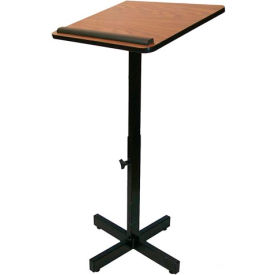 Xpediter Adjustable Podium / Lectern Stand - Medium Oak