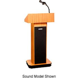 Executive non-sound Column Podium / Lectern - Light Oak