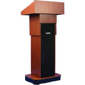 Executive Adjustable non-sound Column Podium / Lectern - Mahogany