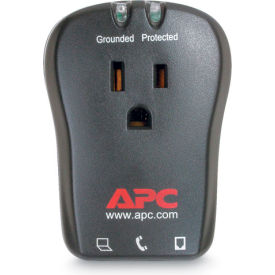 APC Single Outlet Travel Surge Protector with Phone Line Protection, 120V
