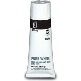 PURE WHITE™ Food Grade Anti Seize w/PTFE 475°F, 3oz. Tube 12/Case - 31003 - Pkg Qty 12