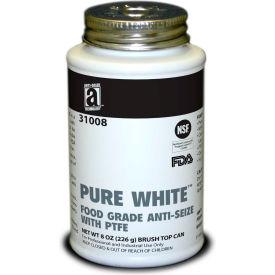 PURE WHITE™ Food Grade Anti Seize w/PTFE 475°F, 8oz. Brush Top 12/Case - 31008 - Pkg Qty 12