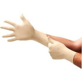 TouchNTuff® 69-210 Industrial Grade Latex Gloves, Powdered, Natural, M, 100 Gloves/Box