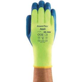Ansell Powerflex® T Hi-Viz Yellow™ Rubber Coated Gloves, 80-400-10, 1-Pair - Pkg Qty 6