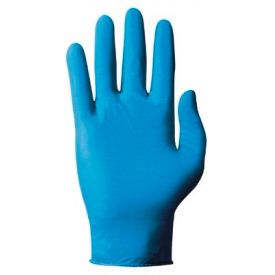 TouchNTuff 92-575 Medical/Exam Textured Nitrile Disposable Gloves, Powdered, Blue, L,... by