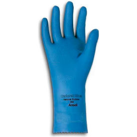 Ansell 88-356 VersaTouch® Natural Blue Chemical Resistant Gloves, Size 8, 1 Pair - Pkg Qty 12