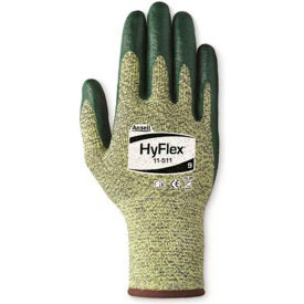 HyFlex® Cut Resistant Gloves, Ansell 11-511, Green Nitrile Palm Coat, Size 10, 1 Pair