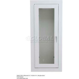 """Alta Extinguisher Cabinet, Full Tempered Safety Glass, Steel, Recessed, 12""""L x 27""""H x 8""""D"""