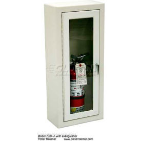 "Alta Extinguisher Cabinet, Full Tempered Safety Glass, Stl, Surface Mt, 14-5/8""L x 29-3/8""H x 8""D"