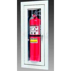 "Loma Extinguisher Cabinet, Full Bubble W/Catch, Semi Recessed, Steel, 9""L x 24""H x 4""D"