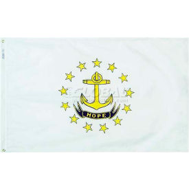 4X6 Ft. 100% Nylon Rhode Island State Flag