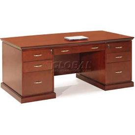 """Devon Executive Desk, 72""""W x 39""""D x 29""""H, Deep Mahogany"""