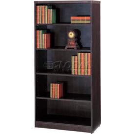 "Stellar 5-Shelf Bookcase, 32""W x 14""D x 66""H, Warm Cherry"