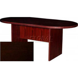 """Stellar 72"""" Racetrack Conference Table with Panel Base, 72""""W x 36""""D x 30""""H, Espresso"""