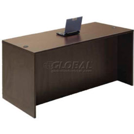 "Stellar Executive Desk with Full Size Pedestals, 60""W x 30""D x 30""H, Deep Espresso"