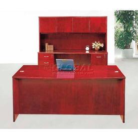 "York Executive Desk with Credenza & Hutch, 72""W x 36""D x 66""H, Light Cherry"