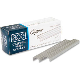 Ace® Undulated Staples, For Use with 07020 Clipper Plier Staplers, 210 Per Strip, 5000/Box