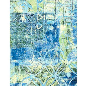 """Americo Tablecover, Artisan's Touch, 54"""" x 75', Vinyl, Mediterranean Sapphire Roll by"""