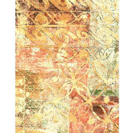 """Americo Tablecover, Artisan's Touch, 54"""" x 75', Vinyl, Spanish Saffron Roll by"""