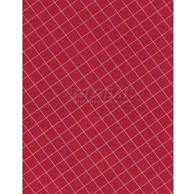 "Americo Tablecover, Crisp & Clean, 46"", Vinyl, Mandarin Red Round by"
