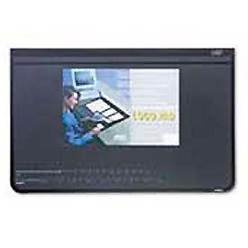 Logo Padt Recycled Desktop Organizer w/Clear Overlay, 20 x 31, Black