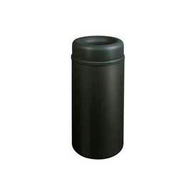 Rubbermaid® AOT15BK Crowne Open Top 15 Gallon Waste Receptacle w/Plastic Liner - Black
