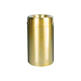 Rubbermaid® AOT30SB Crowne Open Top 30 Gallon Receptacle - Satin Brass