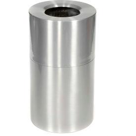 Rubbermaid AOT35SA Atrium® Aluminum Container, Open Top 21 Gal w/Plastic Liner - Satin Aluminum