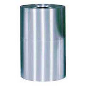 Rubbermaid AOT62SA Atrium® Aluminum Container, Open Top 62 Gallon - Satin Aluminum