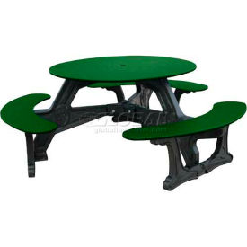 Polly Products Bodega Table, Green Top/Black Frame