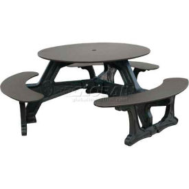 Polly Products Bodega Table, Sage Top/Black Frame