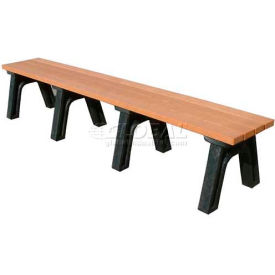 Polly Products Deluxe 8 Ft. Flat Bench, Cedar Bench/Black Frame
