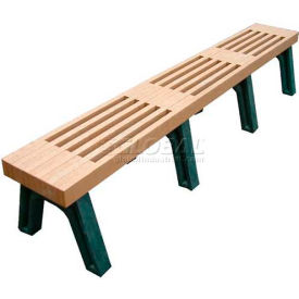 Polly Products Elite 8 Ft. Flat Bench, Cedar Bench/Green Frame