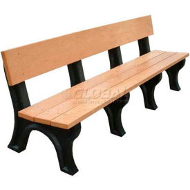 Polly Products Landmark 8 Ft. Backed Bench, Brown Bench/Brown Frame