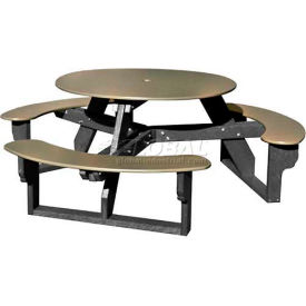 Polly Products Open Round Table, Sage Top/Black Frame