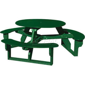 Polly Products Open Round Table, Green Top/Green Frame
