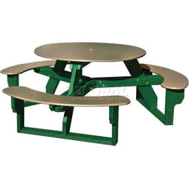 Polly Products Open Round Table, Sage Top/Green Frame
