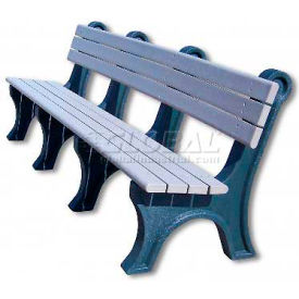 Polly Products Park Classic 8 Ft. Backed Bench, Green Bench/Green Frame by