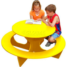 Polly Products Round Activity Table, Yellow Top/Yellow Frame