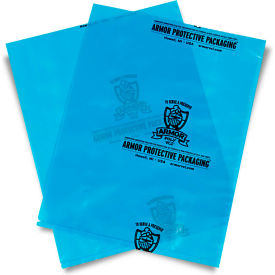 """Armor Poly VCI Bags 18"""" x 24"""" 4 Mil Blue 250 Pack"""