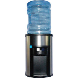 Aquaverve DC100B-98 Commercial Countertop Room Temperature/Cold Water Cooler-Stainless Steel