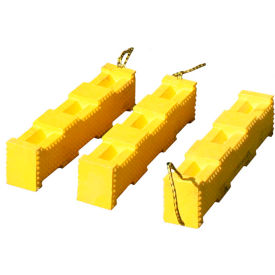 "AME International Super Stacker Cribbing Block 4""X4""x18"" - Yellow 15220"