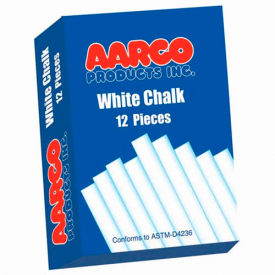 Aarco White Chalk 12 Boxes Package Count 2 by