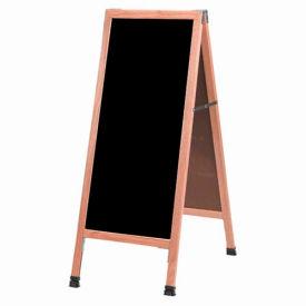 "Aarco Solid Oak A-Frame Sidewalk Black Acrylic Board - 18""W x 42""H"