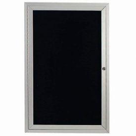 "Aarco 1 Door Letter Board Cabinet - 18""W x 24""H"