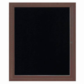 "Aarco 1 Door Letter Board Cabinet Bronzed Anod. 30""W x 36""H by"