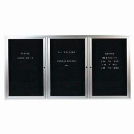 "Aarco 3 Door Letter Board Cabinet - 72""W x 36""H"