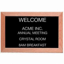 """Aarco Red Oak Framed Letter Board Message Center - 18""""W x 12""""H"""