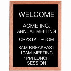 """Aarco Red Oak Framed Letter Board Message Center - 18""""W x 24""""H"""
