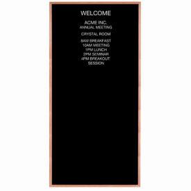 """Aarco Red Oak Framed Letter Board Message Center - 48""""W x 96""""H"""